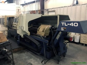 MORI SEIKI MODEL TL-40 CNC FLAT BED LATHE, MF-T4