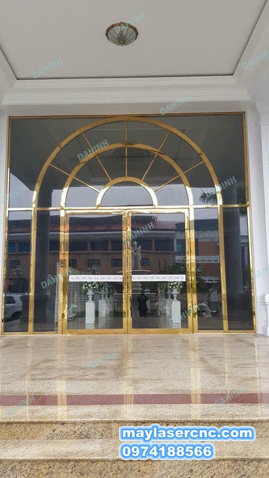 cửa mạ vàng cao cấp 02|cửa inox mạ vàng