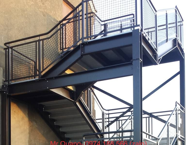 cầu thang 01|cắt gấp kim loại